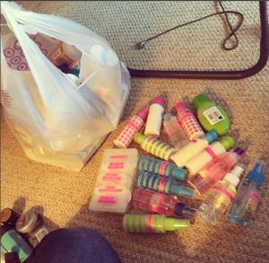 My Hair Product Travel Bottles